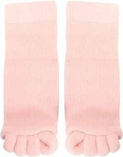Bearony Chaussettes de séparateur d'orteil, 1 Paire de Chaussettes de Massage à 5 Doigts à séparateur