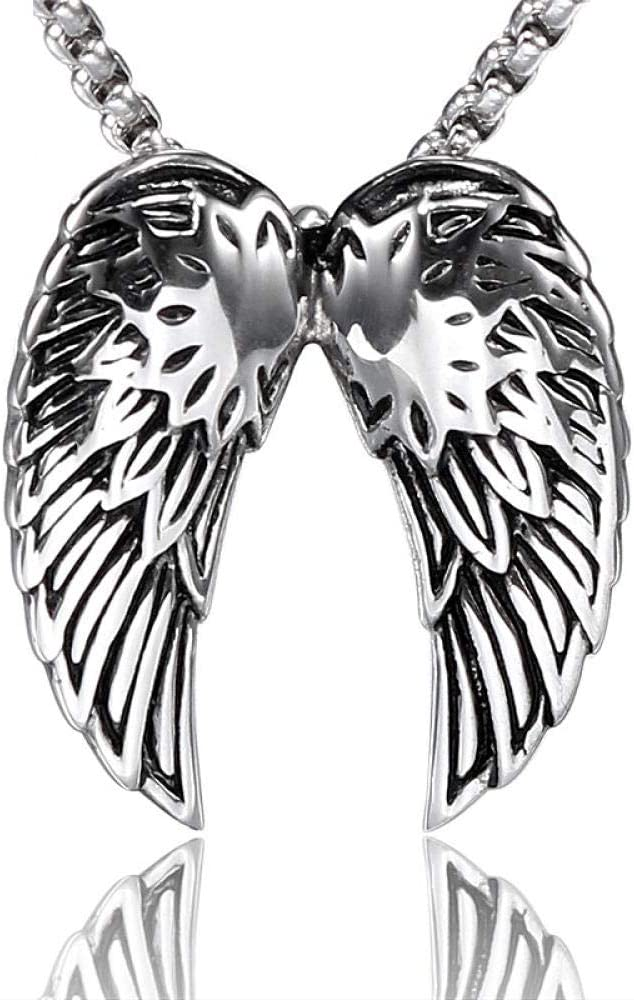 Collar Colgante Joyería Collar Antiguo De Alas De Acero Inoxidable Antiguo Vintage Antiguo para Mujeres Hombres Encanto Gargantilla Joyas