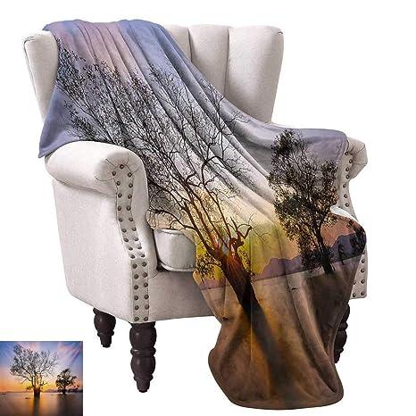 Amazon.com: Digital Printing Blanket,Dawn Time Rising Sun at ...