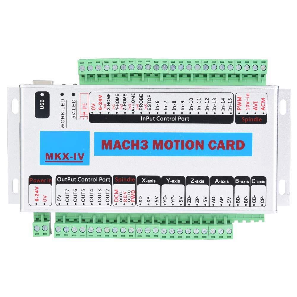 Jadeshay Controller Card USB - 4 axis e-Cut USB mach3 Motion Control Card CNC with USB Interface for Windows System
