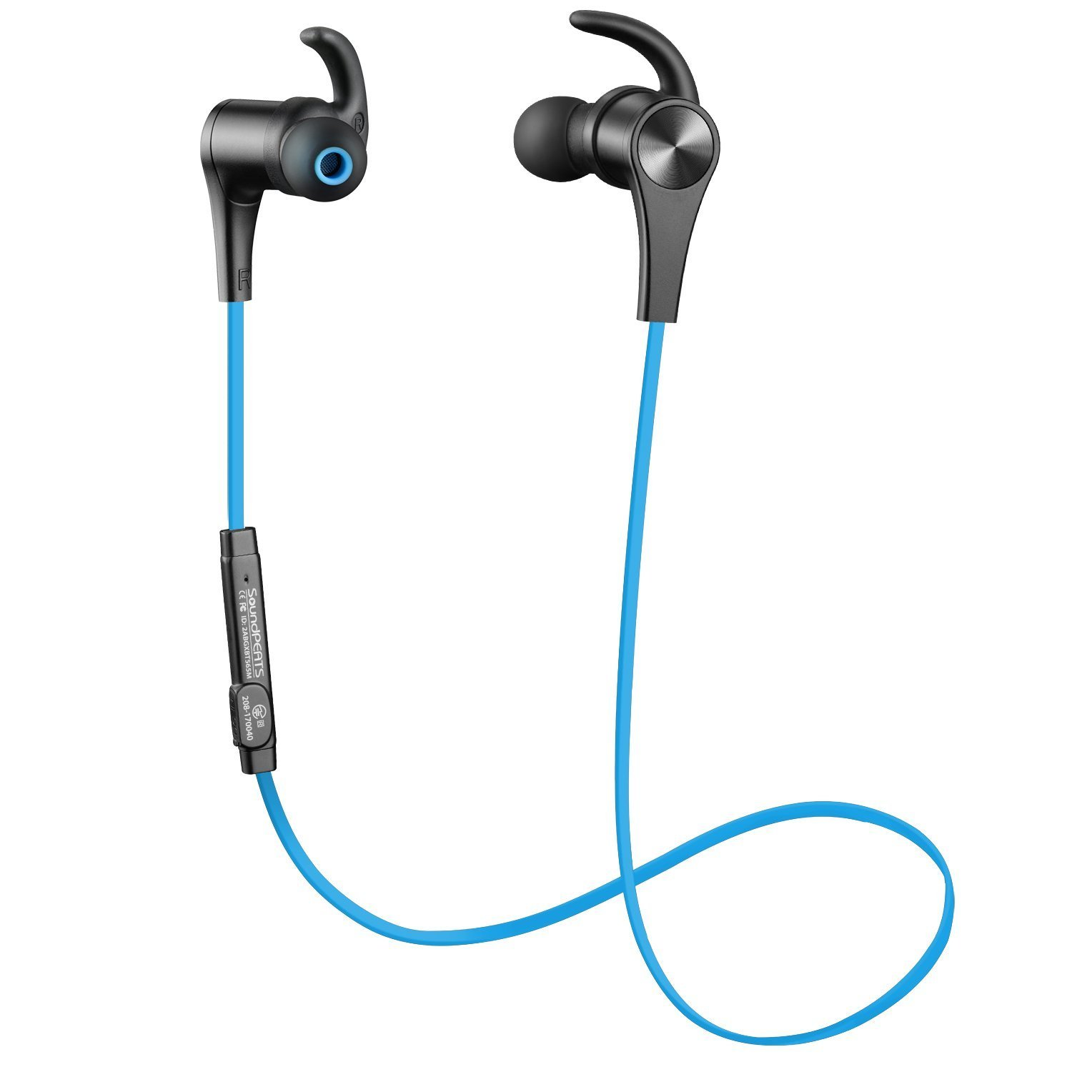 SoundPEATS Bluetooth Headphones Magnetic In-Ear Wireless Earbuds 4.1 Stereo Bluetooth Earphones for Sports Running With Mic (8 Hours Play Time, Hands-Free Calls, In-Line Control) - Blue