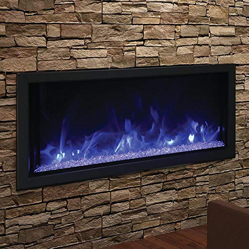 Cheap Amantii Artisan Series Built-in Electric Fireplace Tuscan Cream Natural Concrete Surround Black Friday & Cyber Monday 2019