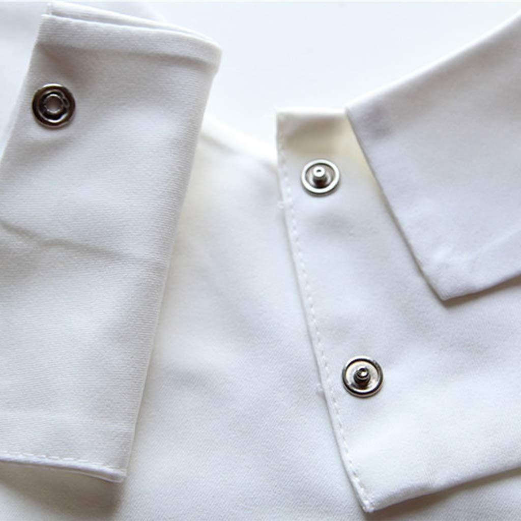 1# ZOOMY Camicia Donna Solid Cotton False Doll Collar Camicetta Vintage Staccabile Regolare Accessori Abbigliamento
