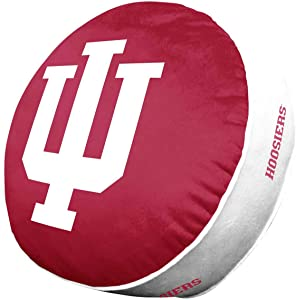 NCAA Team Logo 15 Inch Ultra Soft Stretch Plush Pillow (Indiana Hoosiers - Team Color)