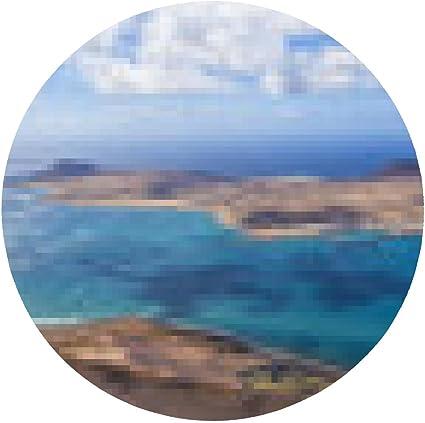 alfombrilla de ratón Panorama de La Graciosa. Lanzarote, Islas ...