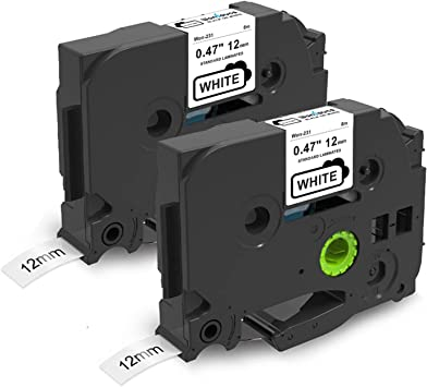 On-Site Laser Compatible Label Tape Replacement for TZe-121 Works with: 3//8 x 26 // 9mm x 8m Black on Clear Black on Clear TZe121
