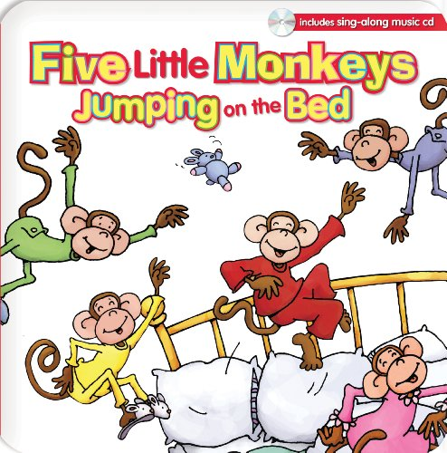 Five Little Monkeys Jumping on the Bed (Padded Board Book W/CD) (Five Little Monkeys Jumping On The Bed Cd)