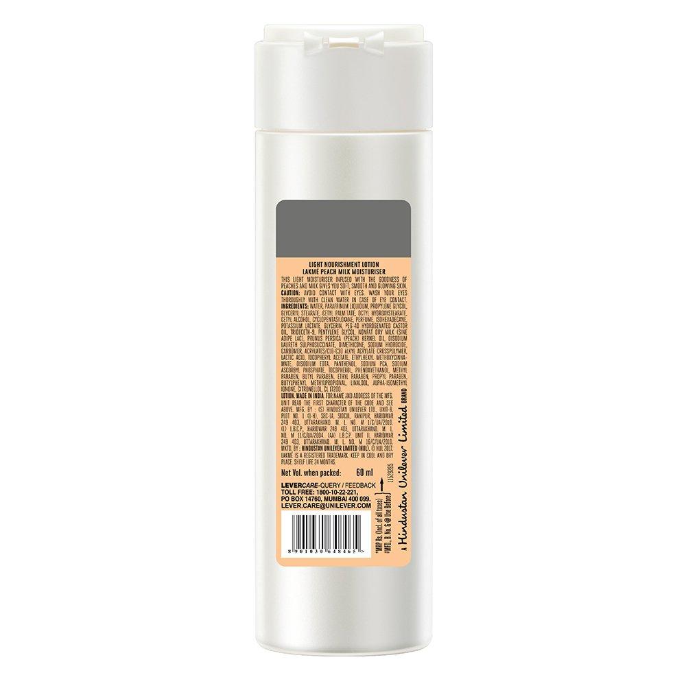 Lakme Peach Milk Moisturizer Body Lotion 60ml Wrp On The Go Coffee 200ml Bundle 4