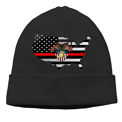 West Point Military Academy West Point Academy Logo Thin Red Line Flag Men  Women Slouchy Skull Cap Knit Hat Cap Winter Beanie at Amazon Women s  Clothing ... e53fa74320