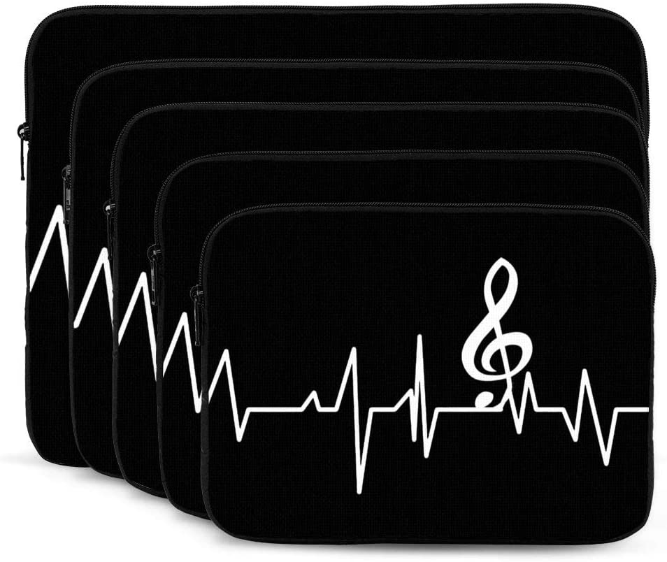 Music Staff Your Texr Heartbeat Laptop Sleeves Bag Notebook Protective Bag Computer Zipper Cover Pouch 17 Inch Laptops
