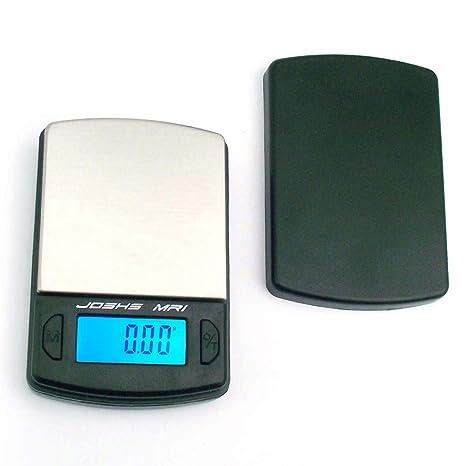 Joshs MR1 - Báscula digital de bolsillo (precisión desde 0,1 g hasta 500 g, superficie de acero inoxidable, incluye 2 pilas AAA): Amazon.es: Hogar