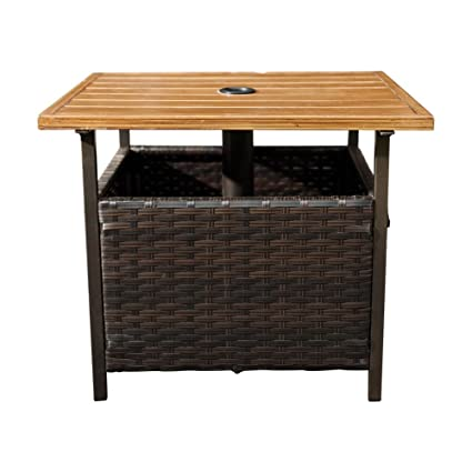 Amazoncom Sunlife Patio Umbrella Base Stand Outdoor Side Table