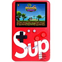 Jimwey Classic Gaming Console SUP 500 in 1 Portable with Colorful LCD Screen USB Rechargeable(Red) - Jimwey Jicson J85