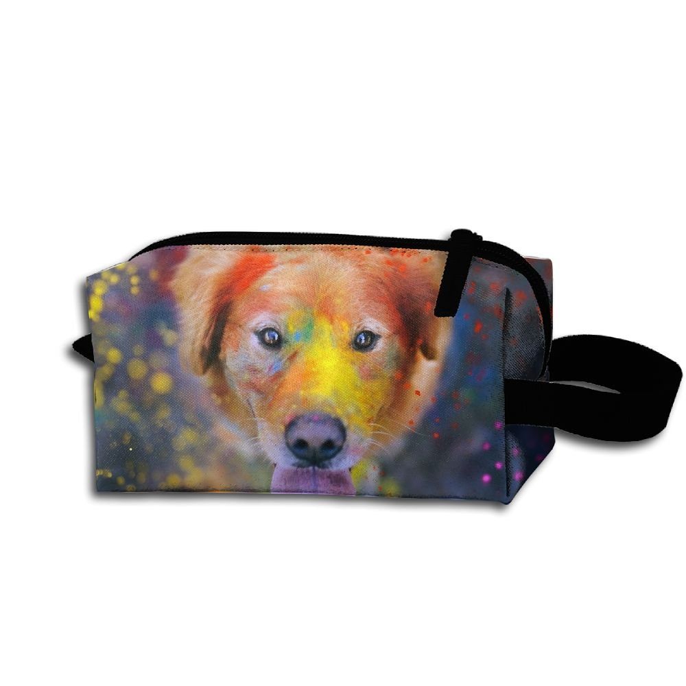 Makeup Cosmetic Bag Animals Dog Paint Medicine Bag Zip Travel Portable Storage Pouch For Mens Womens