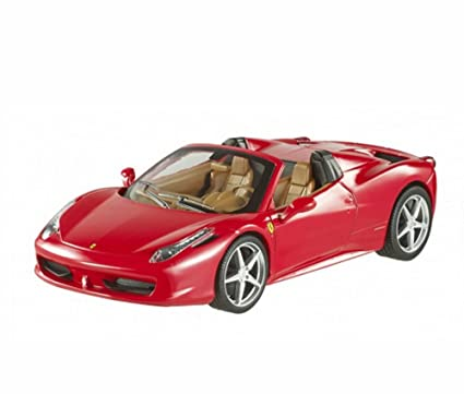 Ferrari 458 Spider Convertible, Red   Mattel Hot Wheels BLY64   1/24 Scale