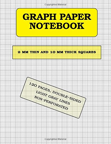 Graph Paper Notebook: 2 mm thin and 10 mm thicker squares  (metric, 120 pages): double-sided, non-perforated, perfect binding