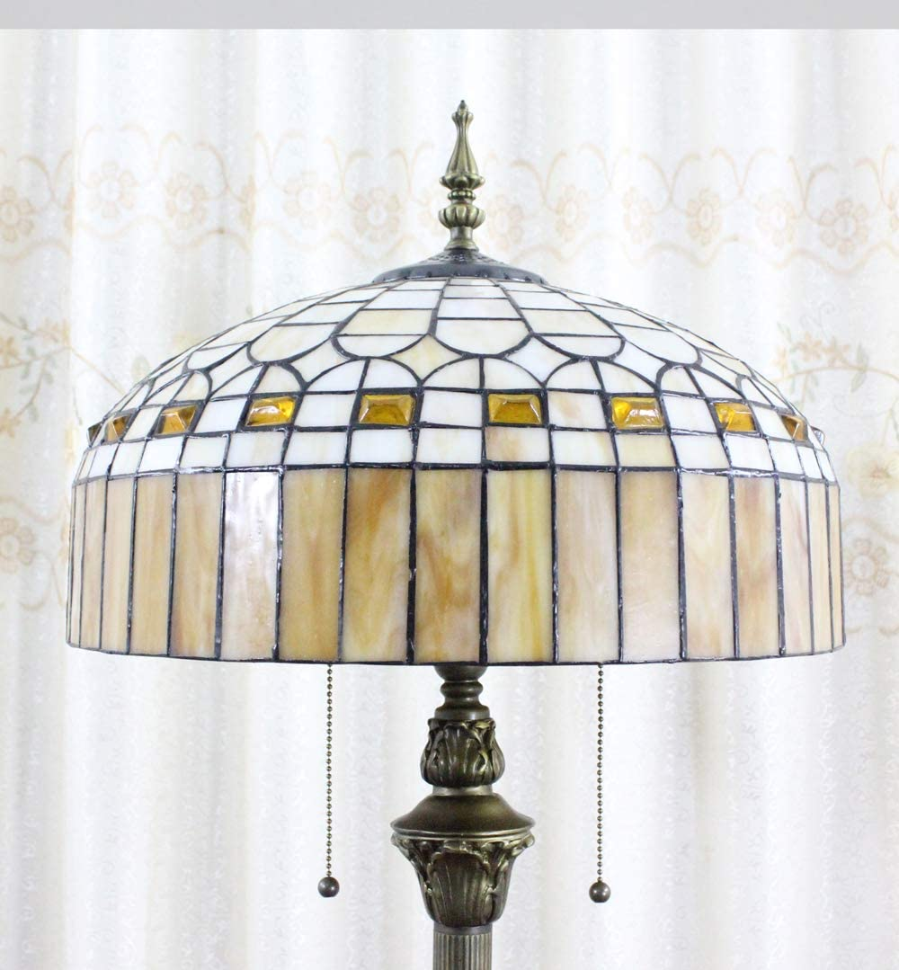 Tokira Tiffany Stil Hohe 64 Zoll Stehlampe Vintage Gelb