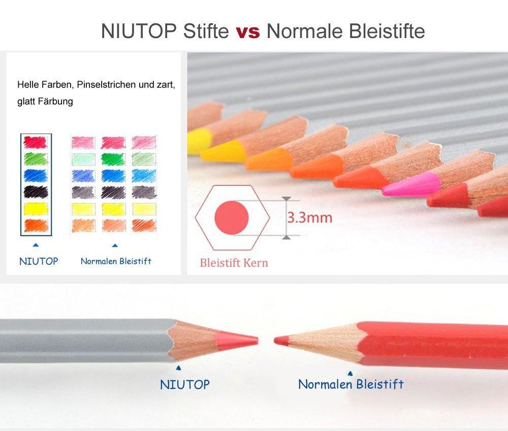 NIUTOP 72 Farben Buntstifte Farbstifte von Marco Raffine Set mit ...