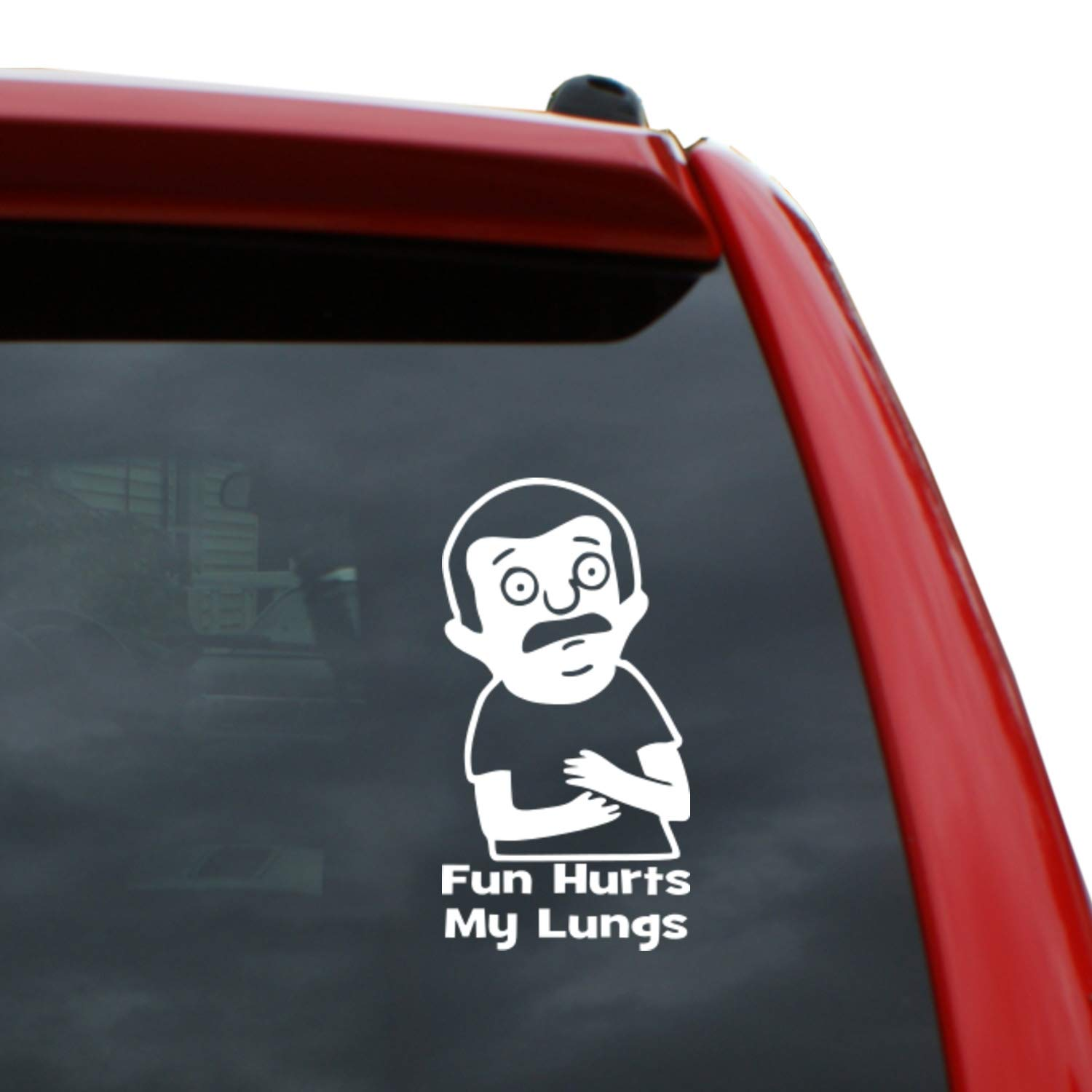 """Black Heart Decals & More Bob's Burgers/Regular Sized Rudy Vinyl Decal Sticker   Color: White   5"""" Tall"""