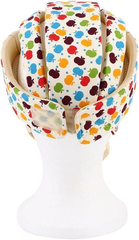 Guguogo Casco de seguridad para beb/é protector de sombrero apple flower de algod/ón