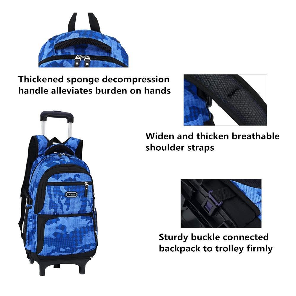 Fanci flora camo waterproof elementary rolling trolley jpg 1000x1000 Camo  wheel backpacks for school 9159a8978e02b
