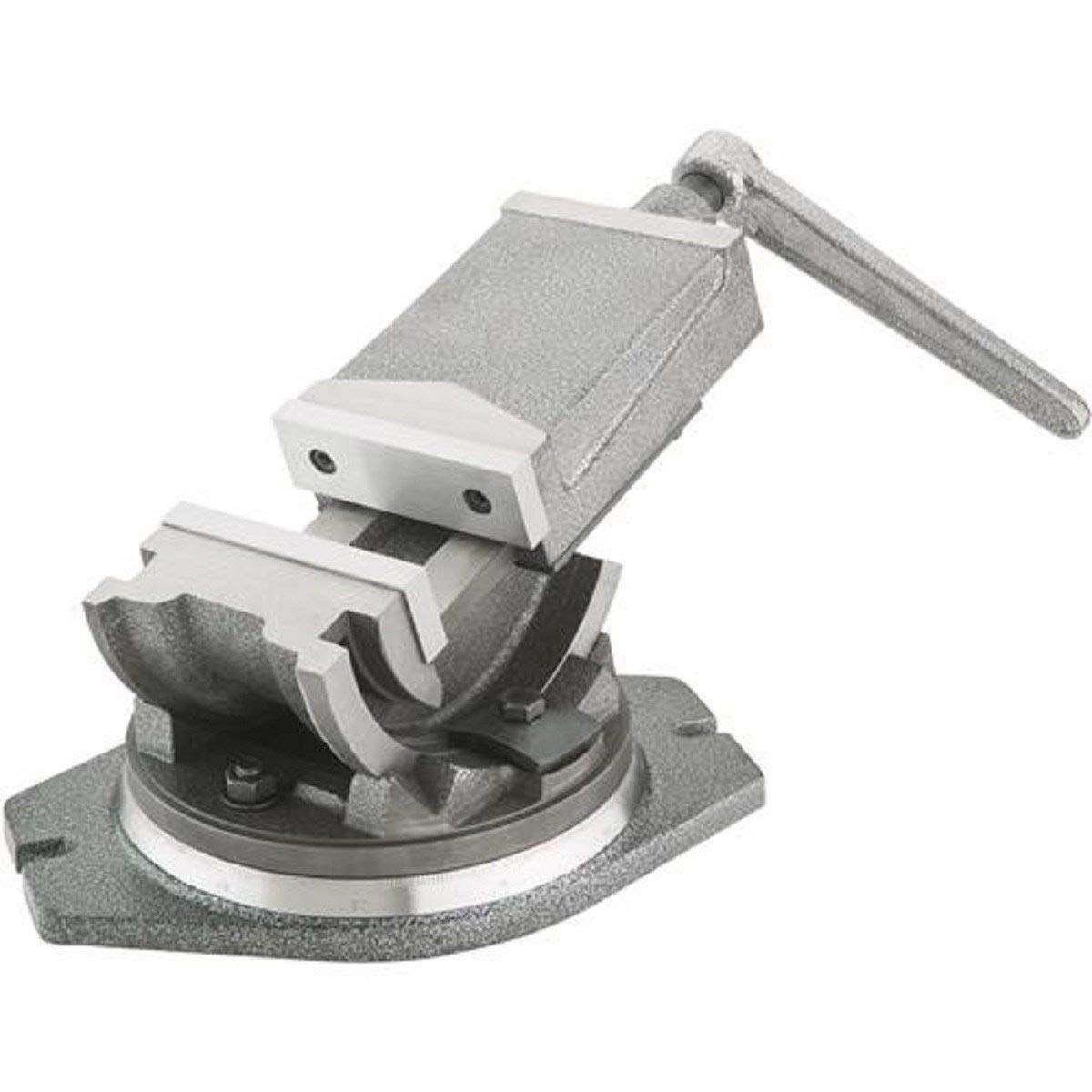 KCHEX>TILTING AND SWIVELING ANGLE MACHINIST VISE FOR DRILL PRESS MILLING MACHINE TOOL>5'' Tilting and swiveling milling vise offers the ultimate in work set-up. Precision aligned jaws and easily