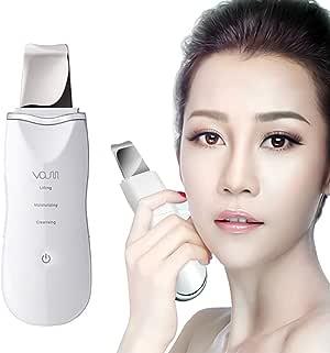 VOUM Facial Scrubber Skin Scrubber Ultrasonic Spatula Blackhead Cutin Remover Pimple Extractor Cordless USB Rechargeable