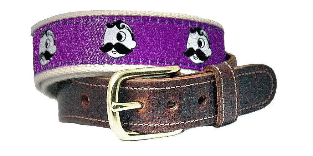 Natty Boh Premium Leather Tab Belt