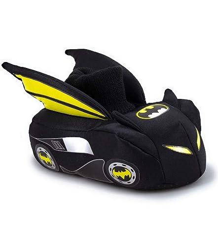 afe20ceb5 Amazon.com | Batman Batmobile Boys Sock Top Slippers (Toddler/Little Kid) |  Slippers