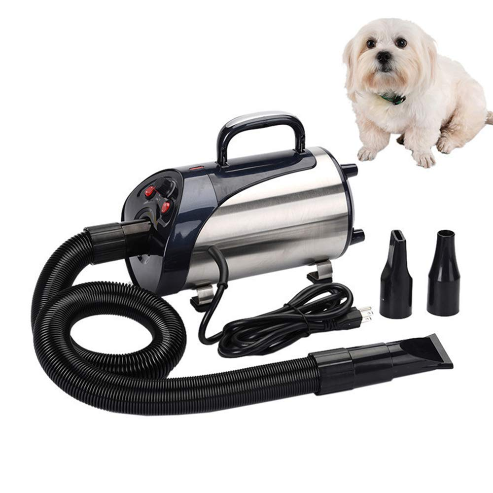 2800W Quiet Hair Dryer with Strong Flowand Low Noise Nozzle for Pets Dog Cat Pet Force Dryer Heater