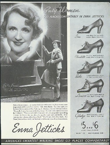 Actress Billie Burke for Enna Jetticks Shoes for Busy Women ad 1935 - Busy Shoe
