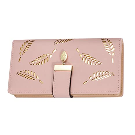 Mujer Carteras Cuero PU Leather tarjeta Carteras y monederos Piel Bolso Billetera Card Holders de gran capacidad cuero de la cartera Solido Simple ...