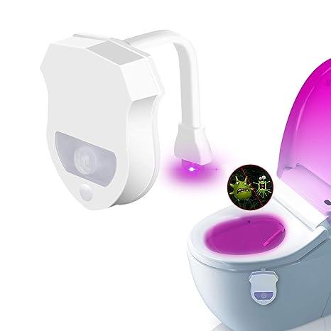 WC luz nocturna, JESWELL LED Luz de Inodoro Luz con Detección de movimiento del sensor
