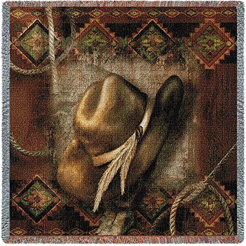Pure Country Inc. Western Hat Small Blanket Tapestry Throw