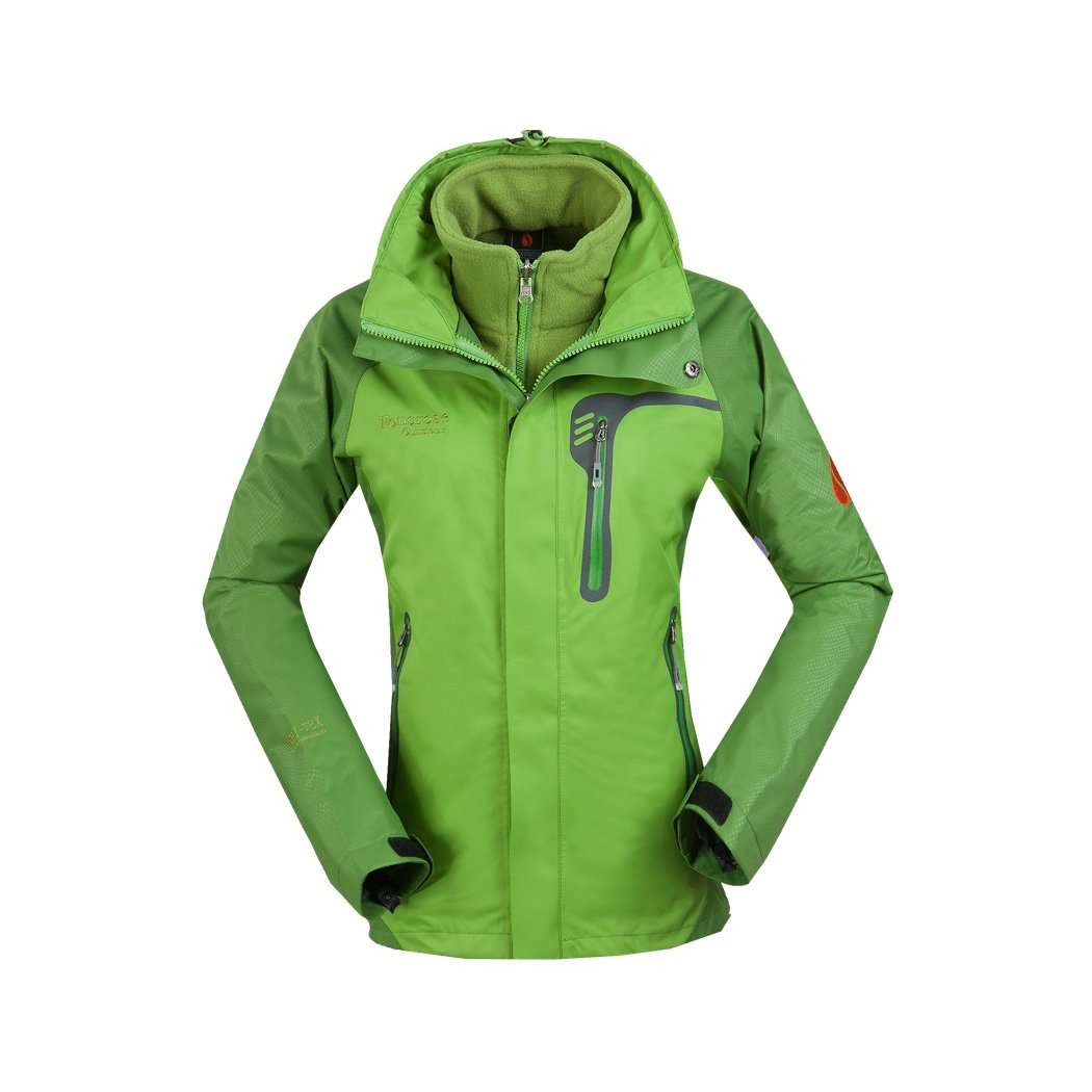 FONOROSE Women's 3in1 Waterproof Windproof Jacket Coat Breathable Hiking Outwear F1016W