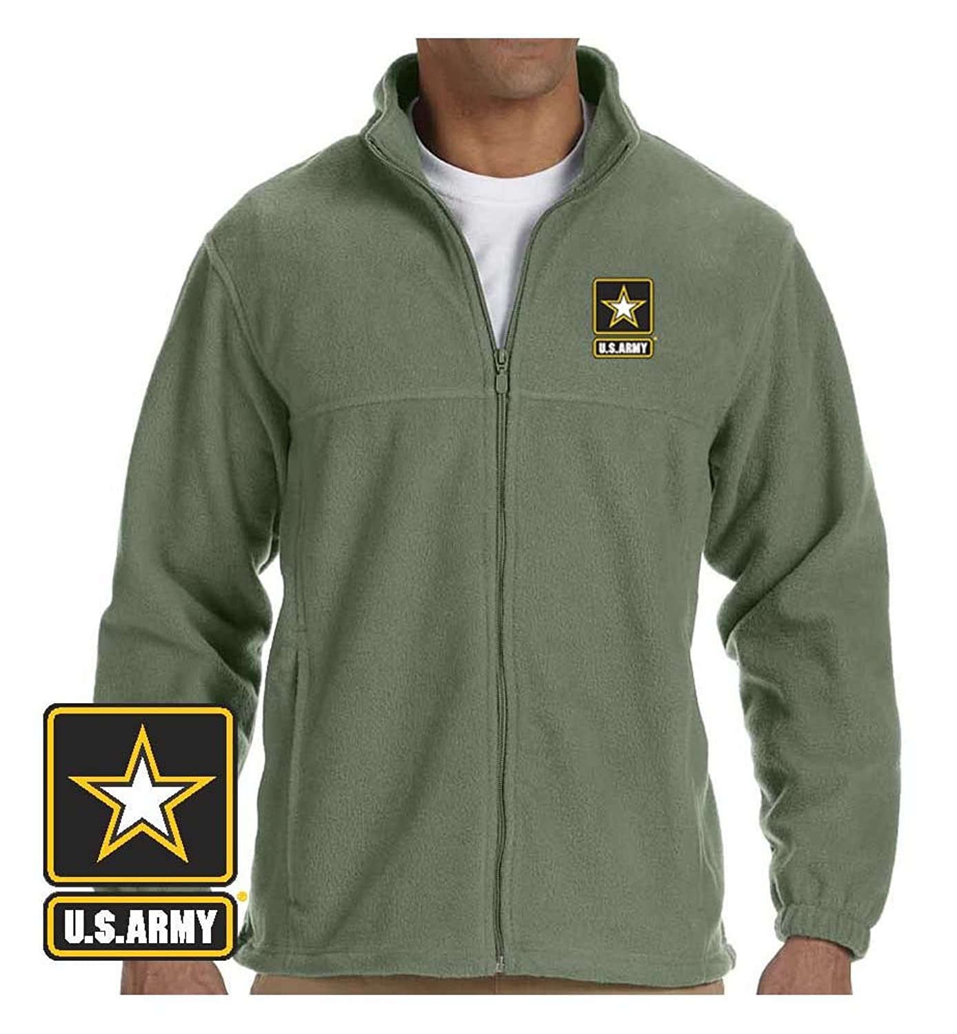 Officially Licensed US Army Logo Embroidered Fleece Jacket (XXX-Large,  Sage) at Amazon Men's Clothing store:
