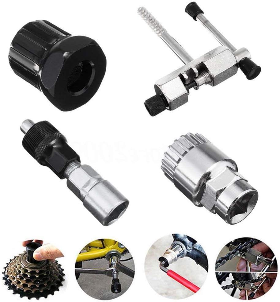 TONGXU Kit de Herramientas de Reparación de Bicicletas Incluyen Extractor de Manivela de Bicicleta Interruptor de Cadena de Bicicleta Herramienta de Extracción de Pedalier de Bicicleta