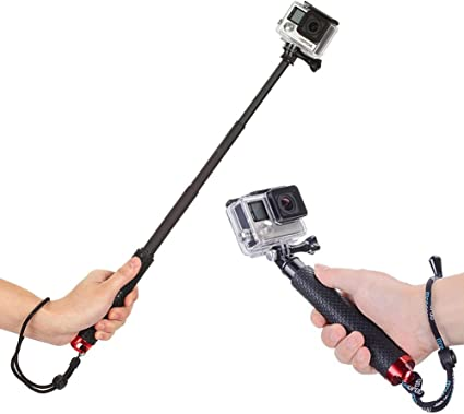 Selfie Stick Adjustable Monopod Pole with Floating Hand Grip for Hero