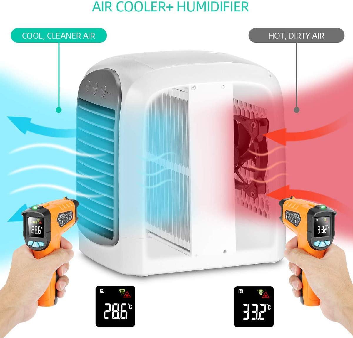 Relubby Refrigerador Humidificador Purificador De Aire, 3 En 1 ...