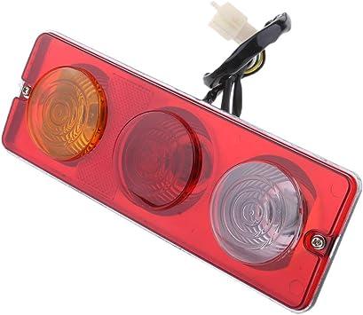 230 x 80 mm LED Brake Light Night Rear Driving Lights for 150cc 250cc Go Kart