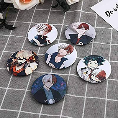 Nuofeng - My Hero Academia Animation Cosplay Cartoon Badge Collection Badge Brooch Pins Bag Novel Anime Cartoon Accessories Anime Bags Cloth Decoration(H19): Office Products