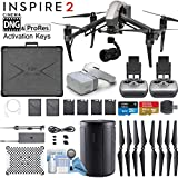 DJI INSPIRE 2 Drone and DJI FPV Goggles Combo with Zenmuse X5S 3-Axis Gimbal/Camera - CinemaDNG & Apple ProRes License Keys & Dual Remote Bundle