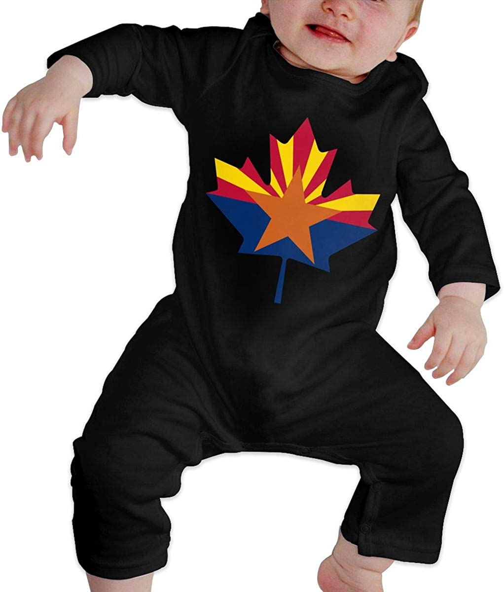Unisex Baby Romper Jumpsuit Arizona Flag Canada Maple Leaf-1 Organic One-Piece Bodysuits Coverall Outfits