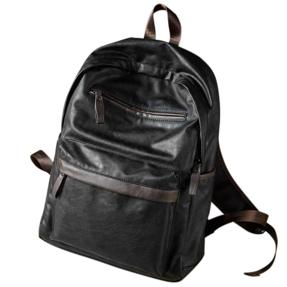 Amazon Com Thinkmax Men Leather School Backpack Casual Oil Wax