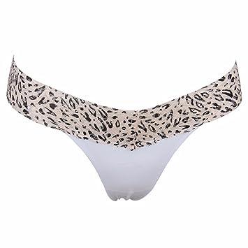 WJIANLL Leopard lady sin cicatrices sexy ropa interior de Encaje tanga t pantalones ropa interior erótica
