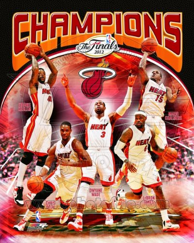 Miami Heat 2012 NBA Championship Team Composite 8x10 Photo