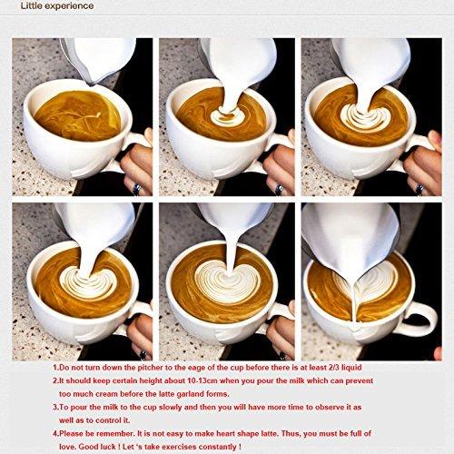 Geschenk shayson Edelstahl Milchd/üse Milchk/ännchen f/ür Kaffee Latte /& Cappucino 20-oz 600 ml Milch aufsch/äumen Krug