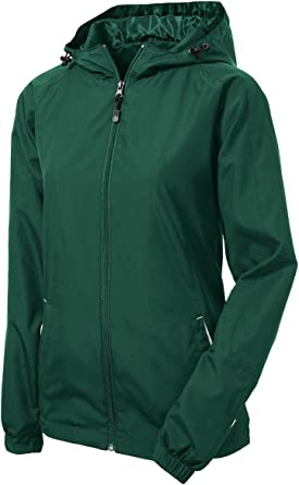 SPORT-TEK Womens Colorblock Hooded Raglan Jacket