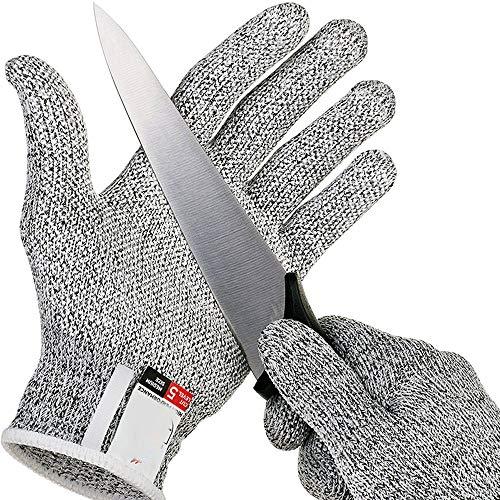 カットプルーフ手袋、安全切断、刺し耐性ステンレス鋼線、金属メッシュ、キッチンブッチャー、アンチカット安全手袋 (Size : XL)
