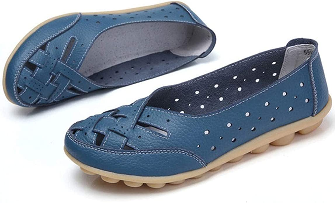Casual Leather Flat Loafers